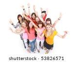 happy students group... | Shutterstock . vector #53826571