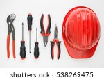 flat lay of hand tools and...   Shutterstock . vector #538269475