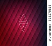abstract rhombus red background ... | Shutterstock .eps vector #538275895