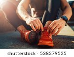 young male jogger athlete... | Shutterstock . vector #538279525