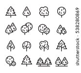 tree line icon set | Shutterstock .eps vector #538280869