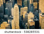 aerial view of the new york... | Shutterstock . vector #538285531
