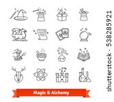 magic   alchemy thin line art... | Shutterstock .eps vector #538285921