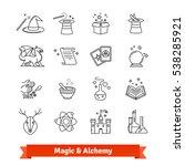 magic   alchemy thin line art... | Shutterstock .eps vector #538285921
