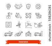 accidents   insurance. thin... | Shutterstock .eps vector #538286281