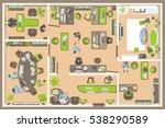 vector illustration. office... | Shutterstock .eps vector #538290589