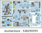 vector illustration. office... | Shutterstock .eps vector #538290595