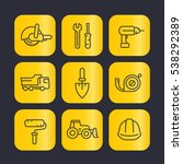 construction tools line icons... | Shutterstock .eps vector #538292389