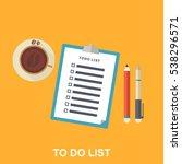 flat illustration of to do list ... | Shutterstock .eps vector #538296571