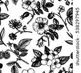 vintage vector floral seamless... | Shutterstock .eps vector #538297945