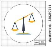 classic balance icon | Shutterstock .eps vector #538297981