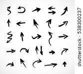 hand drawn arrows  vector set | Shutterstock .eps vector #538300237
