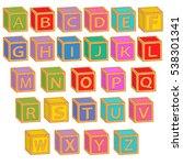 alphabet english colorful...   Shutterstock .eps vector #538301341