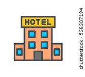 hotel icon hotel building