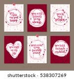 set valentine's day greeting... | Shutterstock .eps vector #538307269