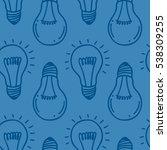 lamp light bulb hand drawn... | Shutterstock .eps vector #538309255