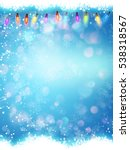 blue christmas snowflakes... | Shutterstock .eps vector #538318567