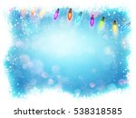 christmas background with... | Shutterstock .eps vector #538318585