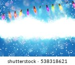 winter card with snowflakes.... | Shutterstock .eps vector #538318621