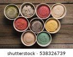 top view ice cream flavors in... | Shutterstock . vector #538326739
