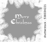 elegant christmas card | Shutterstock . vector #538334221