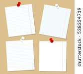 notebook pages template set.... | Shutterstock .eps vector #538334719