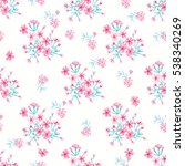 simple cute pattern in small... | Shutterstock .eps vector #538340269