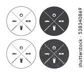billiard vector labels set with ... | Shutterstock .eps vector #538340869