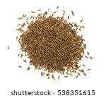 close up pile of cumin or zira... | Shutterstock . vector #538351615