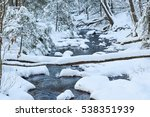 A Snow Covered Stream In The...
