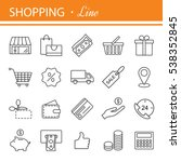 thin lines web icons set   e... | Shutterstock .eps vector #538352845