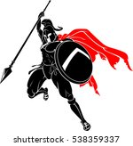 spartan mid air spear | Shutterstock .eps vector #538359337