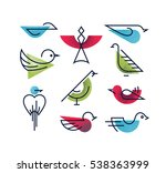 set of geometrical monoline and ... | Shutterstock .eps vector #538363999