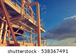 offshore industry oil and gas... | Shutterstock . vector #538367491