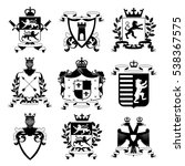 heraldic coat of arms family... | Shutterstock . vector #538367575