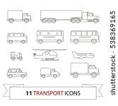 transport line icons set.... | Shutterstock .eps vector #538369165