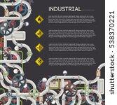 industrial water pipeline... | Shutterstock .eps vector #538370221