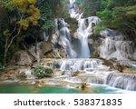 kuang si falls  luang prabang...   Shutterstock . vector #538371835