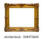 vintage gold frame isolated on... | Shutterstock . vector #538373665