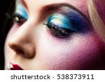 female eye close up  creative... | Shutterstock . vector #538373911