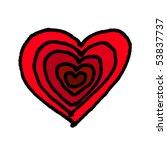 Heart Sketch. Vector