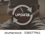 application update concept... | Shutterstock . vector #538377961
