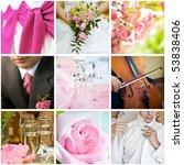 Collage Of Nine Wedding Photos