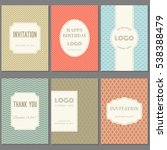 template collection in vintage... | Shutterstock .eps vector #538388479