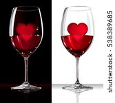 two wine glasses with red wine... | Shutterstock .eps vector #538389685