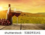 red wine served on wooden... | Shutterstock . vector #538393141