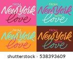 handwritten inscription from... | Shutterstock .eps vector #538393609
