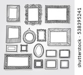 hand drawn photoframes.... | Shutterstock .eps vector #538395241
