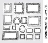 hand drawn photoframes.... | Shutterstock .eps vector #538395241