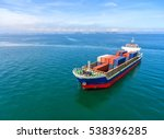 container ship in export and... | Shutterstock . vector #538396285